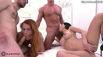 Lesbos double oral-job knobs boyfriends and cunt banging after the game