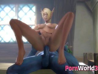 Blood elf enjoying sex tentacle collection