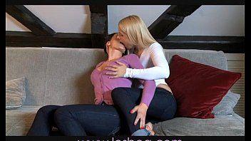 Lesbea milf pleasures hawt blond legal age teenager