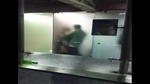 3some en baño público de oviedo asturias
