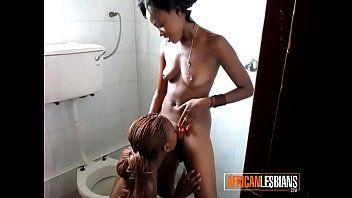 Cute dark lesbo legal age teenagers eat twat in public baths