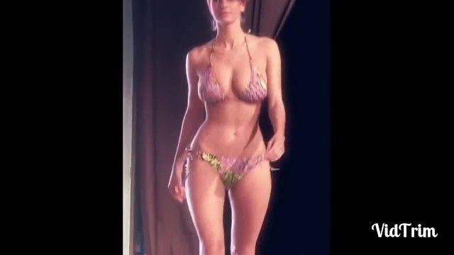 Compilation de modèles glamour zeppelins rebondissants, beautés sexy de muffins damour doux