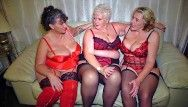 Aged large natural boobed british ladies having enjoyment jointly